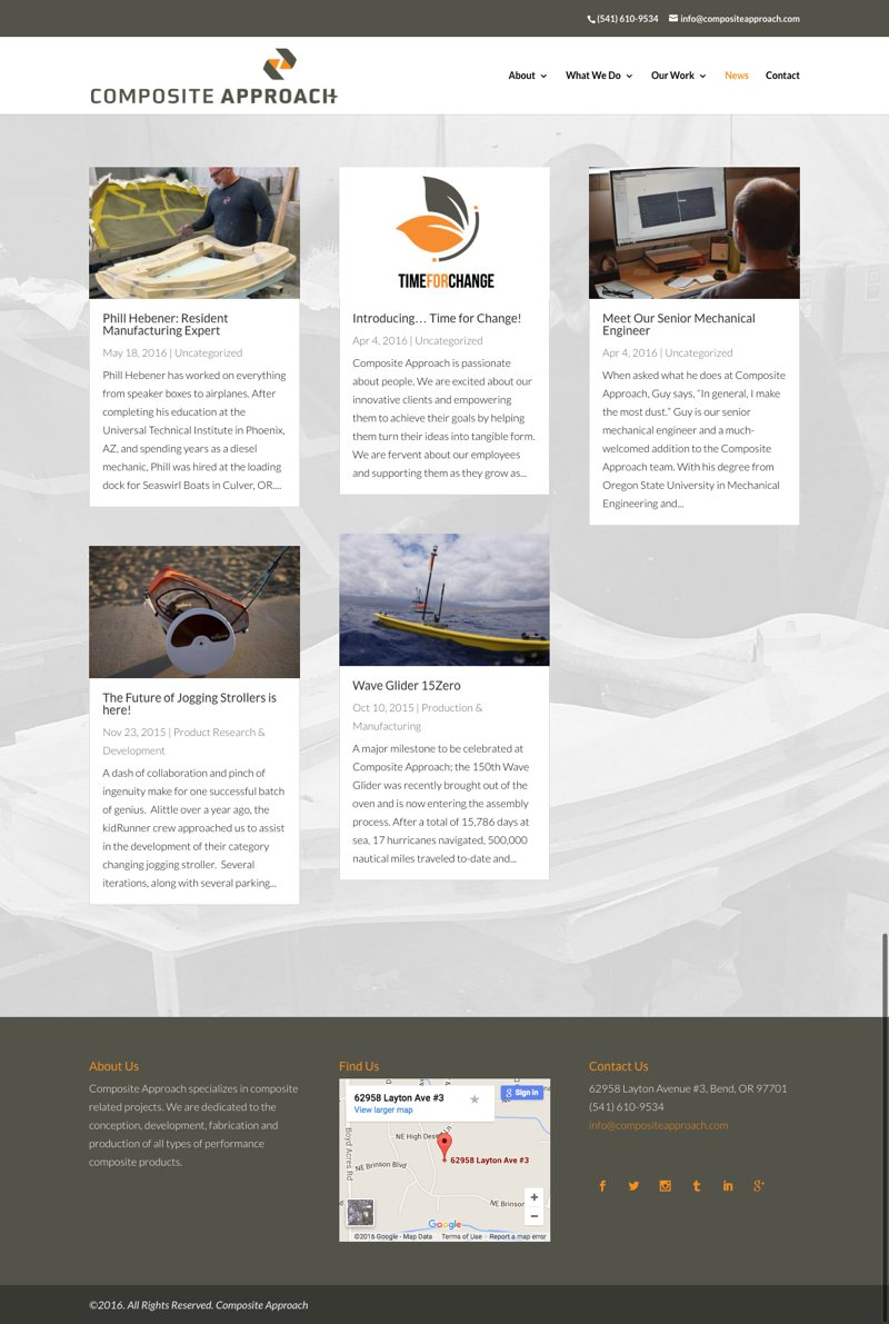 Composite Approach Website News