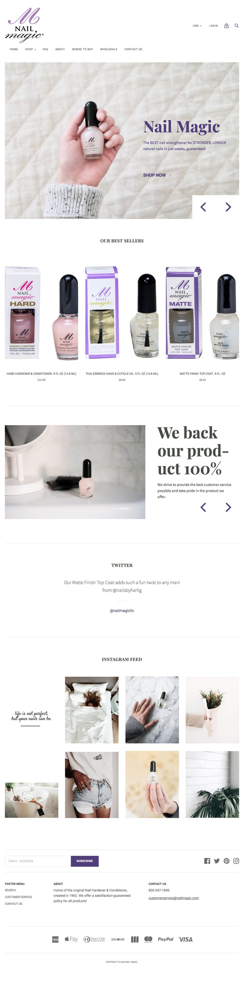 Nail Magic Website - Home