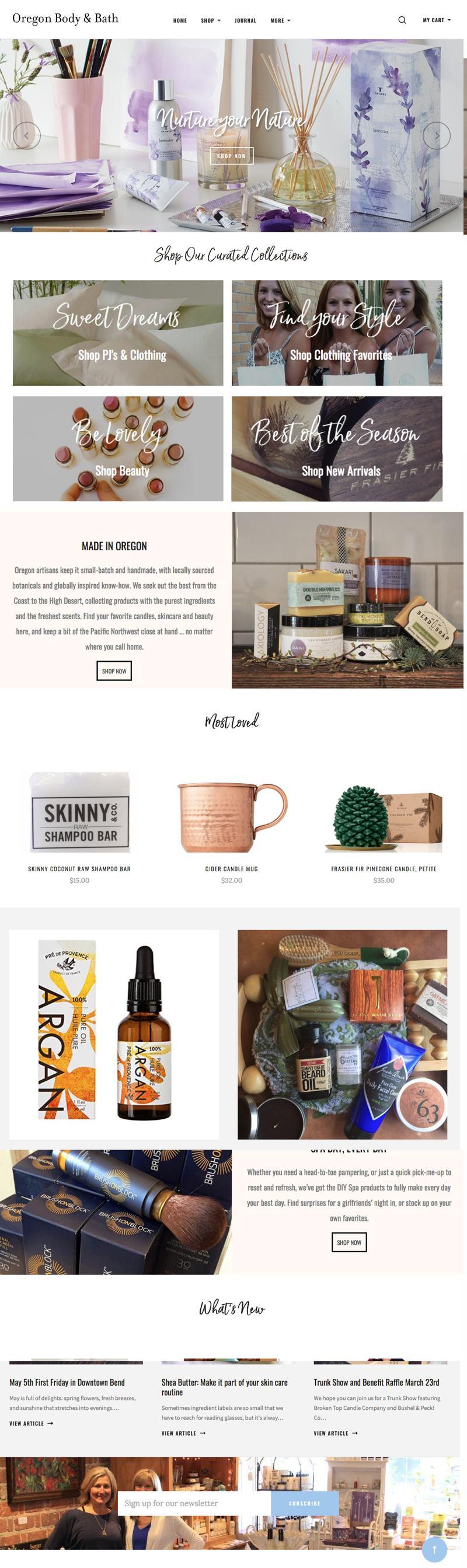 Oregon Body and Bath -  Homepage
