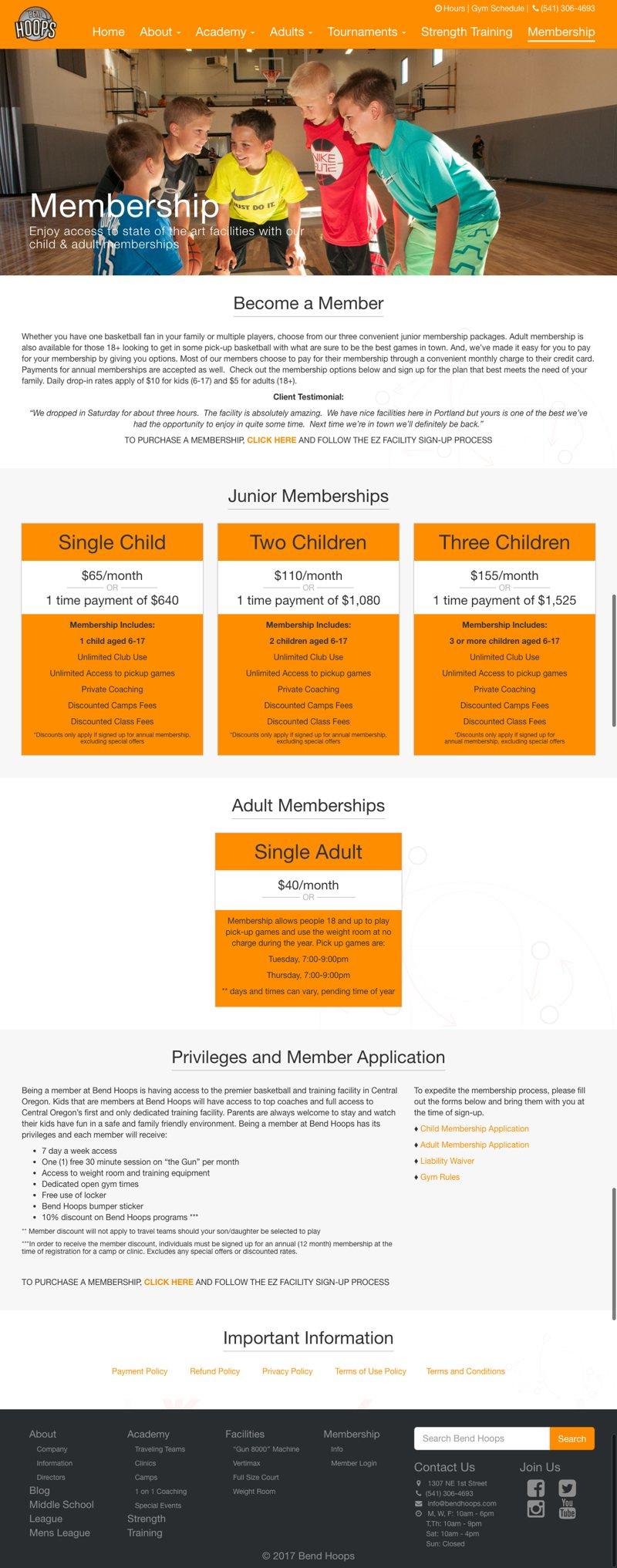 BendHoops Membership