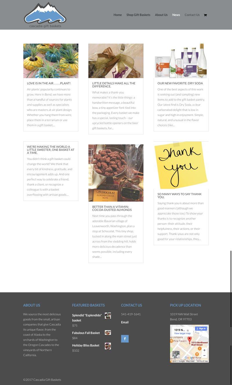 Cascadia Gift Baskets Blog