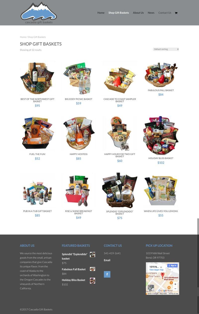 Cascadia Gift Baskets Shop