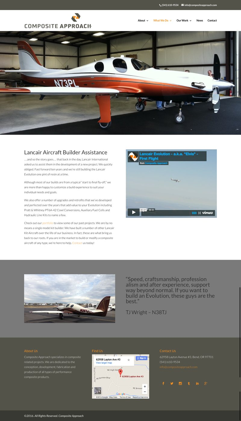 Composite Approach Website Lancair