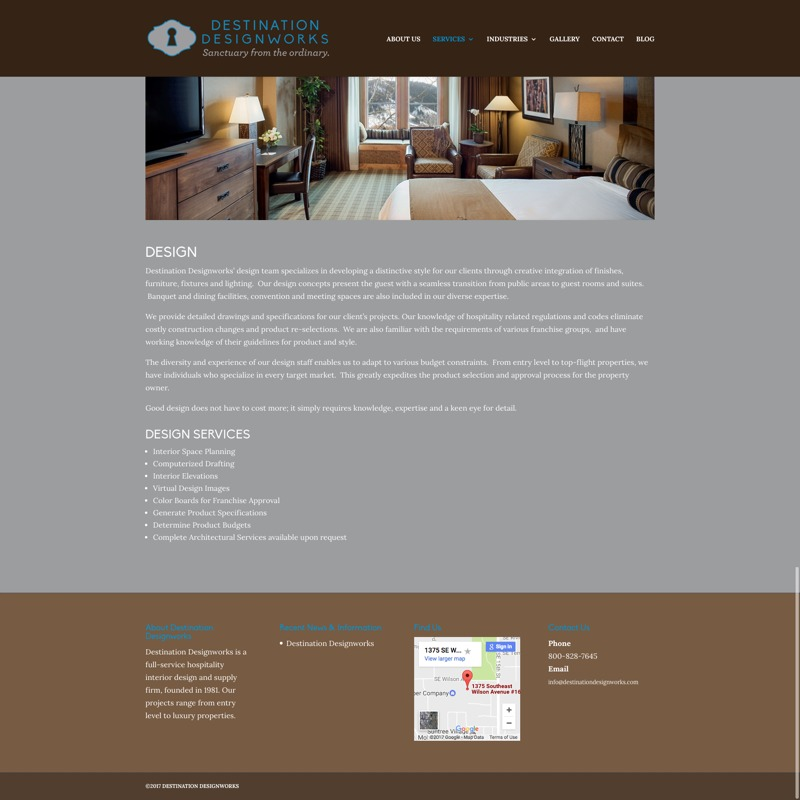 Destination Designworks Website Design