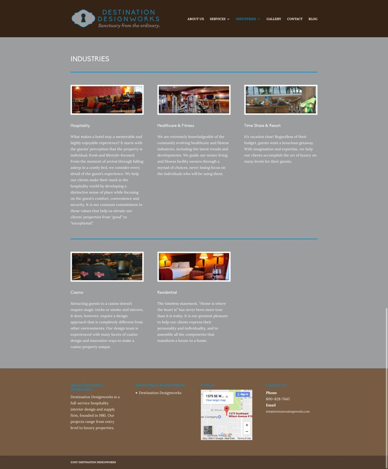 Destination Designworks Website Industries