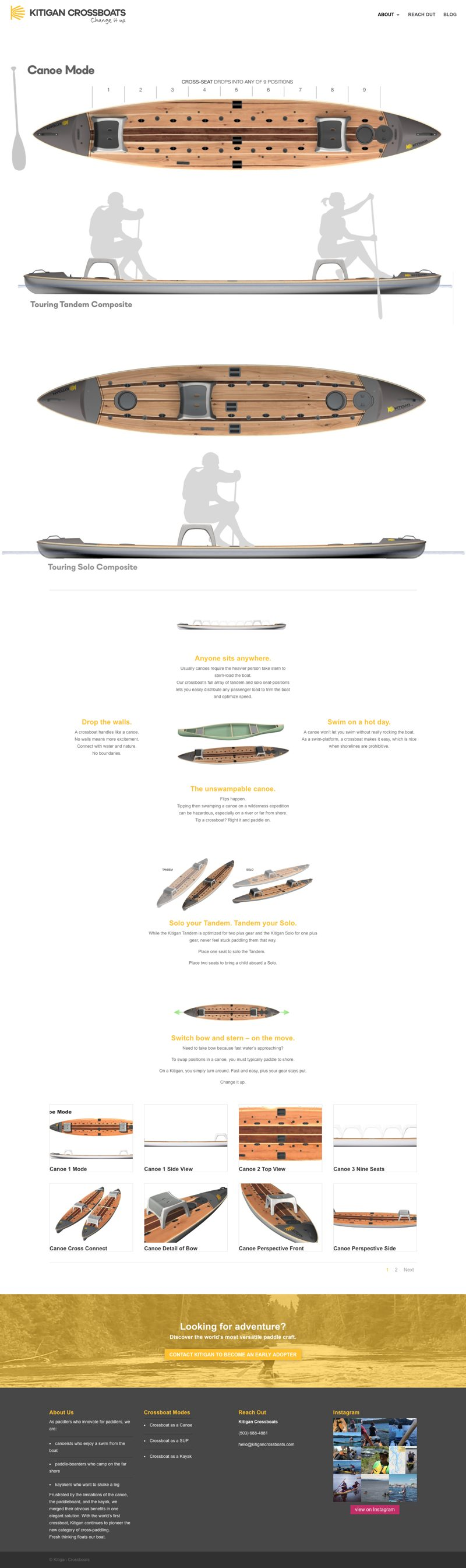 Kitigan Crossboats Website Canoe Page