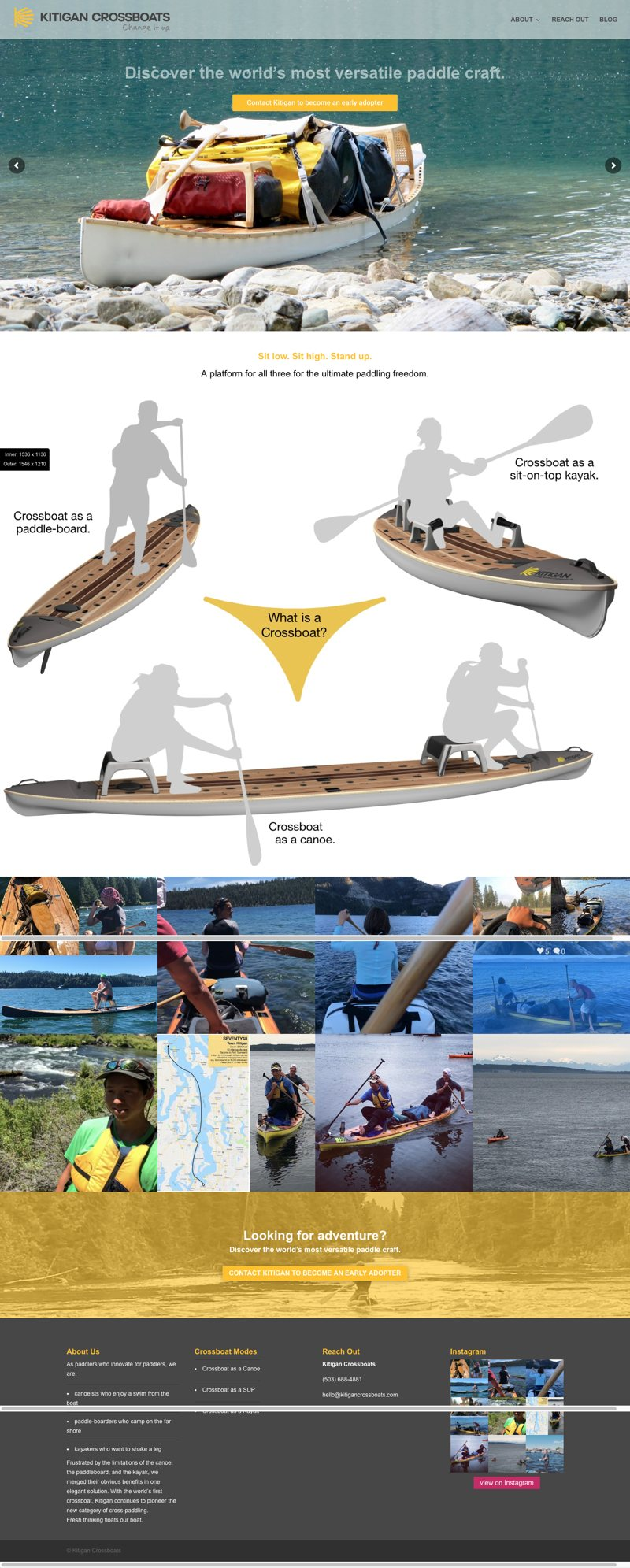 Kitigan Crossboats Website Home Page