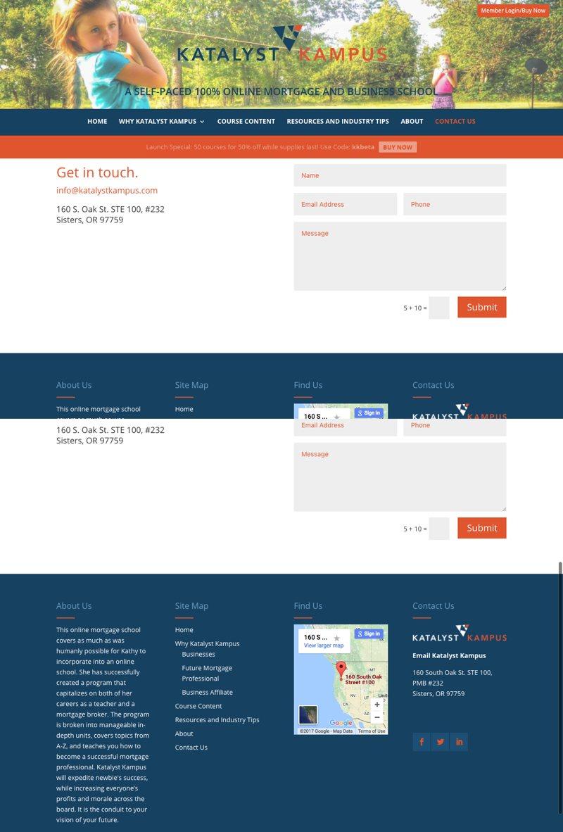 Katalyst kampus Website Contact