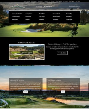 Live Golf Bend Website After