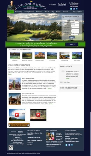 Live Golf Bend Website Before