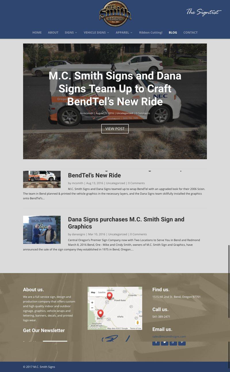 MC Smith Website Blog