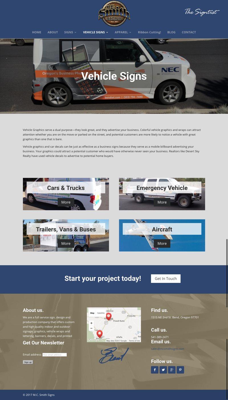 MC Smith Website Vehicle