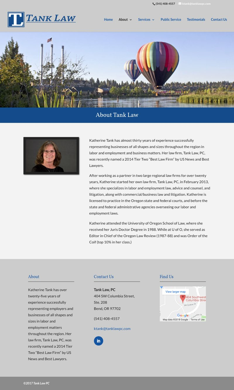 Tank Law Website - About