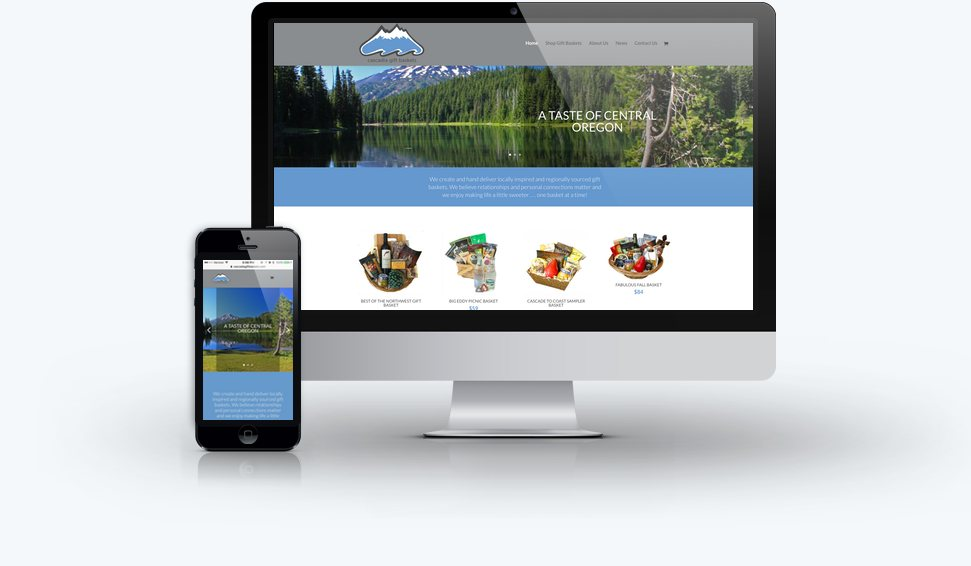 Cascadia Gift Baskets Ecommerce Website